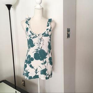 American Eagle Outfitters a Green White Top